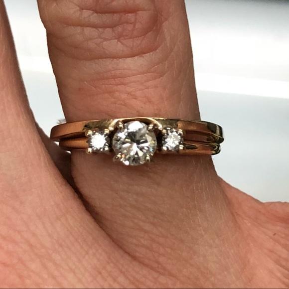 14k Gold Diamond Ring Enhancer Wrap Ring